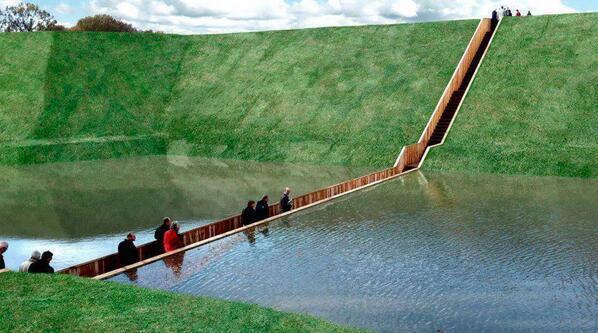 Moses Bridge, Netherlands http://t.co/CXAHHkkQVG