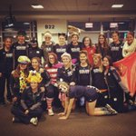 Halloween in the airport ND Soccer style! #NDHalloween http://t.co/uf8xTBaXcI