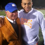 Bobby Hall & Trey Smith after Jags 21-20 win over NW Rankin. Hall wins final home game as Jags coach. #MSSportsNow http://t.co/X2JW5FyFYZ