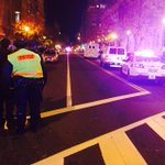 Live at 11 @wusa9: 7th St NW shut down at F. THREE SHOT. Chinatown http://t.co/3nA8PIyr4C