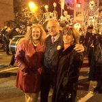 A wonderful time at the Village Halloween Parade with @rikkijklieman & parade organizer Jeanne Fleming. http://t.co/lksXbJkHhi