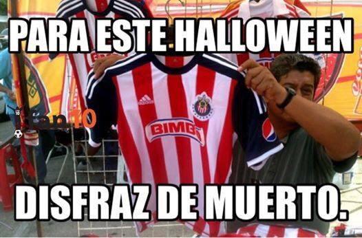 #HoyMeDisfrazoDe chiva rayada del Guadalajara, digo ... De muerto http://t.co/vLeYHcgKaF