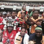 #SenzoMeyiwa Orlando Pirates and Kaizer Chiefs fans side by side for Senzo. No rivalry on a day like today. ML http://t.co/BUcdte5Ygj
