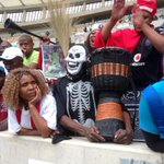 Soccer fans at the funeral service for Bafana captain #SenzoMeyiwa have welcomed the arrest of suspect in his murder http://t.co/inajwPOvVD