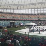 @BafanaBafana @MbalulaFikile @Bevstar7 @ThabisoSithole the stage set for the proceedings to get underway at funeral http://t.co/UMI3NbZEZ8