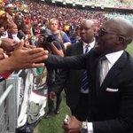 #SenzoMeyiwa Home Affairs Minister Malusi Gigaba greets mourners at the Moses Mabhida Stadium. VM http://t.co/Apk1KvlkYB