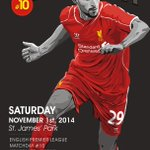 Matchday! #EPL #LFC #NUFC http://t.co/IpuREjE18L