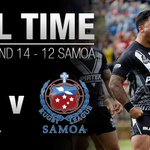 FULL TIME! @NZRL_Kiwis come from behind to beat @RLSamoa 14-12! #GoBully #4Nations #GoRabbitohs http://t.co/AuLcWQref2