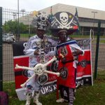 Pirates supporters outside the stadium #SenzoMeyiwa @MarykeVermaak @JacaNews http://t.co/1XdeEtQRgN