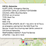 #BREAKING: @NSWRFS have issued an EMERGENCY WARNING for a #bushfire at Cliff Drive, #Katoomba. http://t.co/h7Xy7638YV