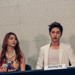 [PIC] 141030 #인피니트 Woohyun and Myungsoo - Music Bank in Mexico Press Conference by Barcel Mexico #4 Ailee ^^ http://t.co/rANw8wgcB5