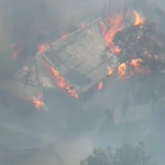 House at Katoomba now completely consumed by fire with firefighters doing their best to save surrounding area. #9News http://t.co/zp4RJE0HuN
