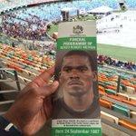 Fans trickling into the Stadium. Kaizer Motaung, Irvin Khoza & Danny Jordaan set to speak at service #FinalFarewell http://t.co/VpIS6K7PGZ