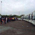 #MeyiwaFuneral Buses still arriving at Moses Mabhida stadium for Senzo Meyiwas funeral http://t.co/WG4Cx8s89m