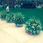 #SenzoMeyiwa Flowers have been put here around the stage, more still being brought in. TK http://t.co/Sz6tLDRRSc