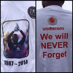 #MeyiwaFuneral The t-shirts being handed out for free outside the stadium http://t.co/PRK2sCRHGI