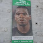 The programme for todays funeral p1 #SenzoMeyiwa MV http://t.co/N4gQzzSD5H