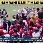Supporters from different clubs are at Moses Mabhida Stadium where SA is to bid farewell to Senzo Meyiwa @ANN7tv http://t.co/gbIHJM66yn