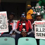 #MeyiwaFuneral Supporters taking their seats as gospel songs beam from the speakers around the stadium http://t.co/qJTzFJeYT1