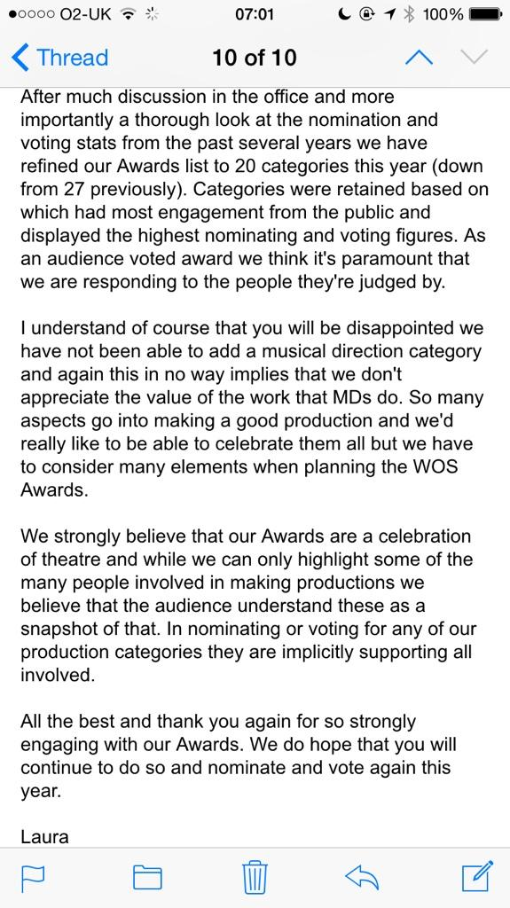 Here is the email from @WhatsOnStage #creativeteamparity Quite alarming, really. Please RT http://t.co/8yCJVRVacN