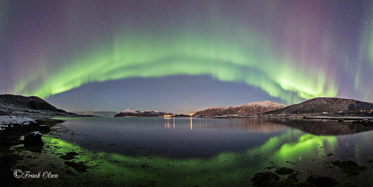 Prachtig noorderlicht afgelopen nacht in Roksøy, Noorwegen. Foto Frank Olsen http://t.co/didD3rTQkH