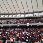 Moses Mabhida stadium in Durban is getting packed for Senzo Meyiwas funeral. #SenzoMeyiwa http://t.co/5kWPK3inDX