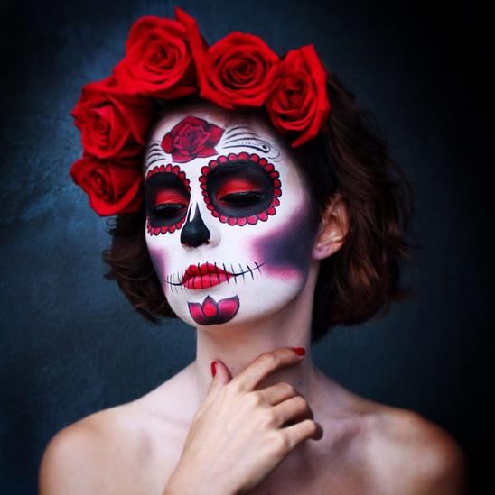 5 amazing sugar skull makeup creations for dia de los muertos