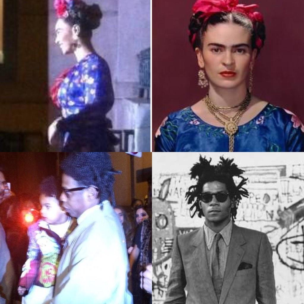 Beyoncé as Frida Kahlo, Jay Z as Jean Basquiat!! Making Blue Ivy: Picasso Baby! #Epic #IfYouKnowYouKnow #ART http://t.co/qhRzzStV2w