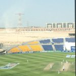 Might be hard to see but a whirlwind has blown up out the back of the stadium. Bit the same on-pitch too #PAKvAUS http://t.co/O45ezehRHR