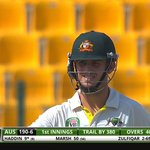FIFTY for Mitch Marsh! His first in Test cricket. Top knock so far. Can he go on? #PAKvAUS http://t.co/hEvBZa29F4 http://t.co/zOkhOE53gP