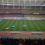 The Atmosphere at Stadium National Bukit Jalil, 5:45pm. Credit to the person who took & post this picture online. http://t.co/m8gaxx3KXv