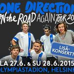 Huh huh! #OneDirection lle lisäkonsertti Olympiastadionille! http://t.co/rpTbPx59Vv #1DHelsinki #OnTheRoadAgain1D http://t.co/t3VEsGzX6Y