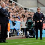 The managers. Brendan Rodgers and Alan Pardew today at St James Park for Newcastle vs Liverpool. #LFC #nufc #NEWLIV http://t.co/klsYTRLt06