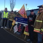 Picket line at Farringdon Fire Station as firefighters walk out in an ongoing pensions row #Sunderland @fbunational http://t.co/PEKkQp0g3i