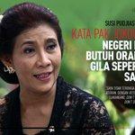 "Susi Pudjiastuti: ""Kata Pak Jokowi negeri ini butuh orang gila seperti saya"" http://t.co/88rWTYb6ow I @majalah_detik http://t.co/kOOmpMOgdE"