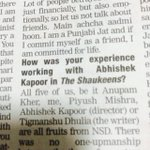 The genius 'journalist' who doesn't know the difference between Abhishek Kapoor and Abhishek Sharma. #TheShaukeens http://t.co/88pYd2TyNS