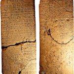 لوح مسماري باللغتين السومرية والبابلية يوثق 42 مَثَل من الأمثال الشعبية البابلية بابل 2000-1700 ق.م مجموعة شوين، لندن http://t.co/eJKEx1nNh3