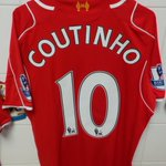 PHOTO: The shirts of @Phil_Coutinho and Joe Allen - both start for #LFC in the 12.45pm GMT kick-off. http://t.co/kAIA2lmE8Z