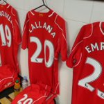 PHOTO: Another image from the away dressing room for #LFC at St James Park. http://t.co/ijS3llpktU
