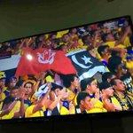 Ke mana sahaja . 3 flag ni sentiasa bersama-sama .Proud ! #ThisIsPantaiTimur#hogohPahanghogoh#FinalPialaMalaysia2014 http://t.co/xpw6iYgUDk