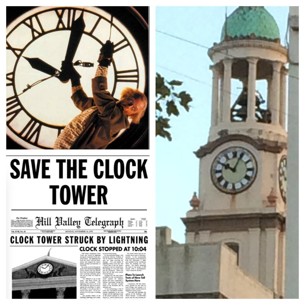 Ryde town hall has told the time of 10:04 for YEARS. Ring any bells? #backtothefuture #isleofwight http://t.co/8TpBuNQKRp
