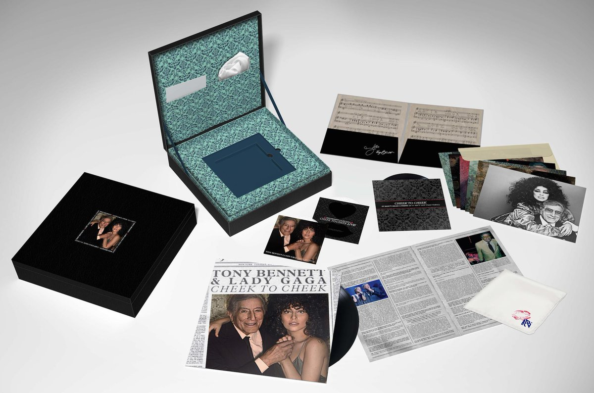 PRE ORDER limited edition @ItsTonyBennett & @LadyGaga #CheekToCheek box sets! http://t.co/J6oTRTLyMn http://t.co/vrJDFo81QD