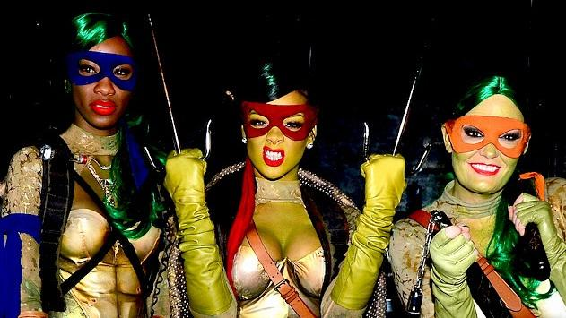 Rihanna was a Sexy Ninja Turtle for Halloween! See more pics of celebs in costumes