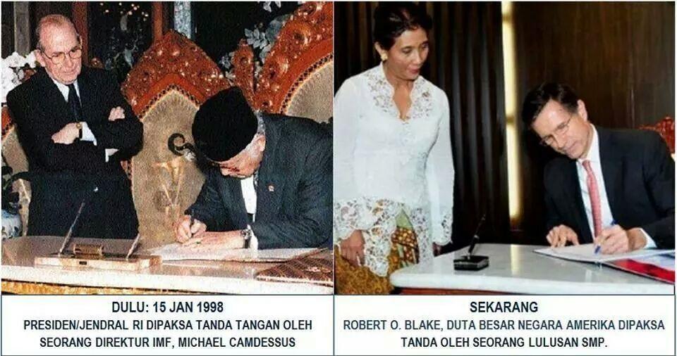 "nih!!! ""@rasarab :)) RT @zulhaq_: :)) ""@imanbr: :)) ""@deddysitorus: Bedanya kabinet Jokowi dgn kabinet Orba!! http://t.co/JdnEi99CVD"""""