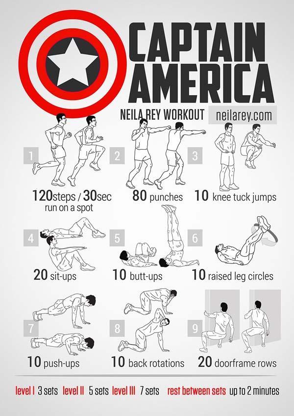 """Domingos de """"No gym? No problem!"""" ¿Qué te parece entrenar como el Capitán América? http://t.co/Iid49q6qKk"""