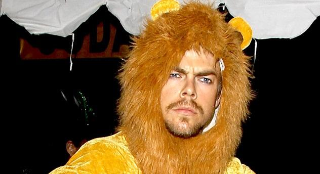 Derek Hough, we know it was Halloween, but REMEMBER WHO YOU ARE... See more celeb pics!