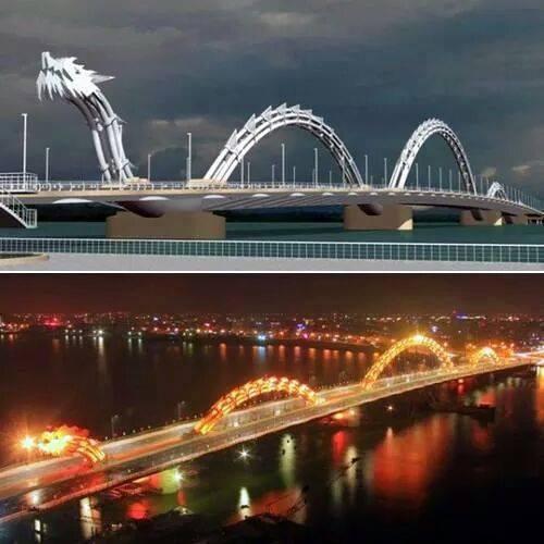 Amazing dragon bridge in Danang Vietnam: http://t.co/gLw3yaHiL1