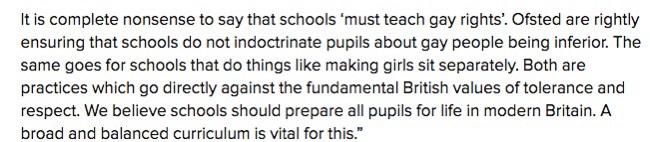 There's a DfE tweet out there, poorly edited from a longer statement which reads opposite to its original intention. http://t.co/pwppCVhMcm