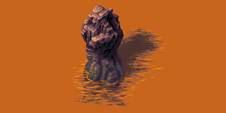 #pixelart from today: this bright sunlit stone in the water http://t.co/KNJN2SIt5b