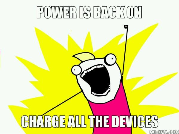 Pretty much what happens after #loadshedding ends. http://t.co/H6fVj0AU42